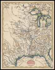 South, Texas, Midwest and Plains Map By T.F. Ehrmann