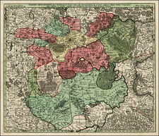 Poland, Russia and Baltic Countries Map By Matthaus Seutter