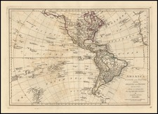 World, Western Hemisphere, South America, Pacific and America Map By Samuel Dunn