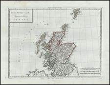 Scotland Map By Edme Mentelle