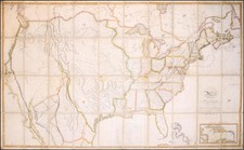 United States, South and North America Map By John Melish