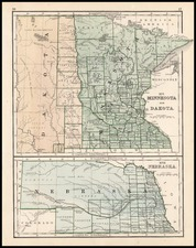 Midwest and Plains Map By Rand McNally & Company