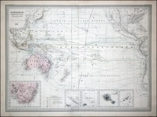 World, Australia & Oceania, Pacific, Australia and Oceania Map By Adolphe Hippolyte Dufour