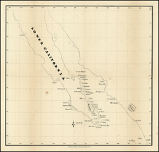 Baja California and California Map By Ackerman Lithg.
