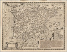 Spain and Portugal Map By Andreas Schottus