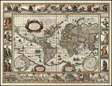 World and World Map By Willem Janszoon Blaeu