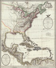 United States, Mexico, Caribbean and Central America Map By Pierre Antoine Tardieu