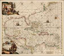 Southeast and Caribbean Map By Frederick De Wit