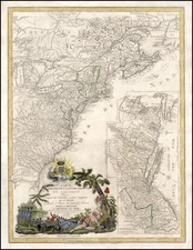 United States, Mid-Atlantic and Southeast Map By Louis Denis