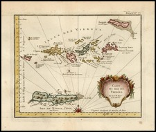 Caribbean Map By Jacques Nicolas Bellin