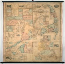 New England Map By Henry Francis Walling