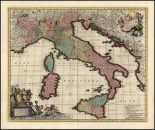 Europe, Italy and Balearic Islands Map By Nicolaes Visscher I