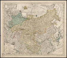 Europe, Russia, Asia and Russia in Asia Map By Leonard Von Euler