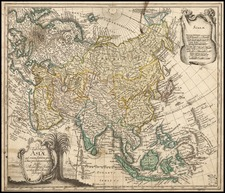 Asia, Asia and Southeast Asia Map By Leonard Von Euler