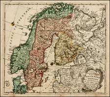 Russia, Baltic Countries and Scandinavia Map By Leonard Von Euler