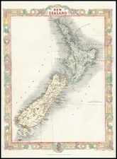 Australia & Oceania and New Zealand Map By John Rapkin