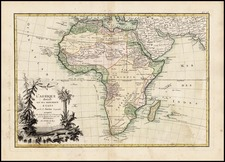 Africa and Africa Map By Jean Janvier
