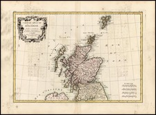 Scotland Map By Rigobert Bonne