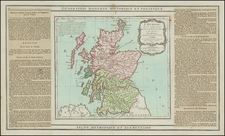 Scotland Map By Louis Brion de la Tour