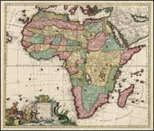 Africa and Africa Map By Carel Allard