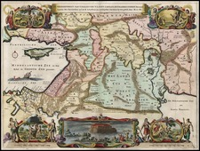 Europe, Balearic Islands, Asia, Middle East and Turkey & Asia Minor Map By Hendrick Keur
