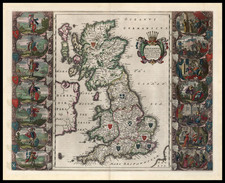 Europe and British Isles Map By Willem Janszoon Blaeu