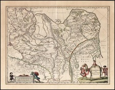 Asia, China, Central Asia & Caucasus and Russia in Asia Map By Willem Janszoon Blaeu