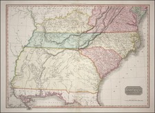 South, Southeast, Midwest and Plains Map By John Pinkerton