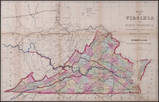 Mid-Atlantic and Southeast Map By Matthew Fontaine Maury - James H. Waddell