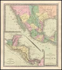 Texas, Southwest, Central America and California Map By David Hugh Burr