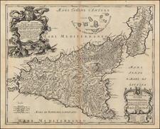 Italy and Balearic Islands Map By Giacomo Giovanni Rossi - Giacomo Cantelli da Vignola