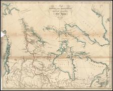 World, Polar Maps, Alaska and Canada Map By Sir John Franklin