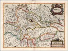 Italy and Northern Italy Map By Willem Janszoon Blaeu