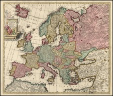 Europe and Europe Map By Carel Allard