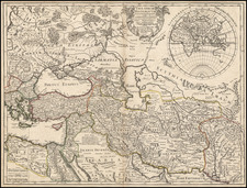 Europe, Russia, Greece, Turkey, Mediterranean, Asia, India, Central Asia & Caucasus, Middle East, Holy Land and Turkey & Asia Minor Map By Guillaume De L'Isle