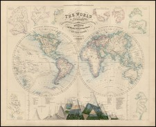 World and World Map By Archibald Fullarton & Co.