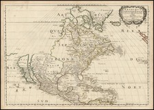 North America Map By Nicolas Sanson