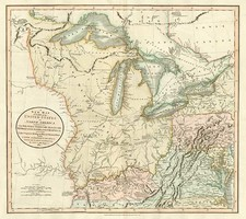 Mid-Atlantic, Midwest and Canada Map By John Cary