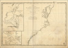 Mid-Atlantic and Southeast Map By Depot de la Marine