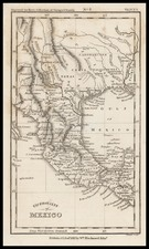 Texas, Plains, Southwest and Mexico Map By William Blackwood & Sons