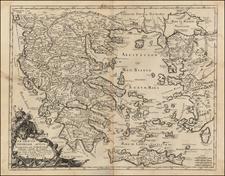 Balkans, Turkey, Turkey & Asia Minor, Balearic Islands and Greece Map By Giacomo Giovanni Rossi - Giacomo Cantelli da Vignola
