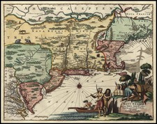 New England and Mid-Atlantic Map By John Ogilby / Arnoldus Montanus
