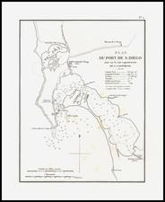 San Diego Map By Eugene Duflot De Mofras