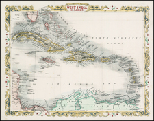 Caribbean Map By John Rapkin