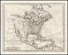 North America Map By Jacques Nicolas Bellin