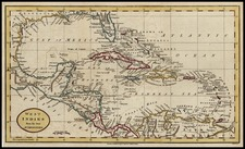 South, Southeast, Caribbean and Central America Map By Charles Dilly