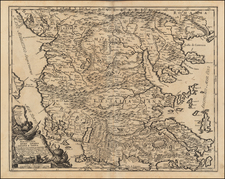Balkans, Greece and Turkey Map By Giacomo Giovanni Rossi - Giacomo Cantelli da Vignola