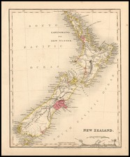 Australia & Oceania and New Zealand Map By John Dower