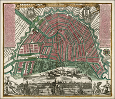 Netherlands Map By Matthaus Seutter