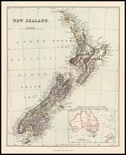 Australia & Oceania and New Zealand Map By Alexander MacKenzie